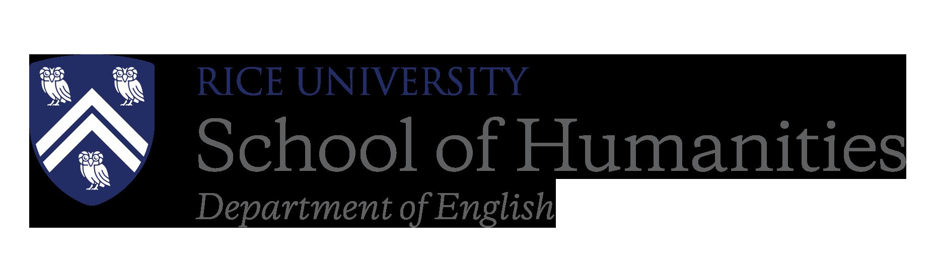 Rice University School of Humanities Department of English